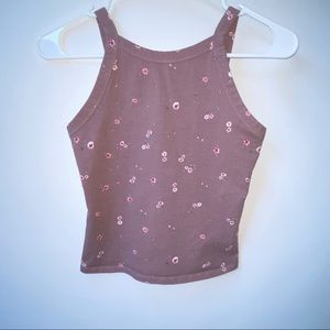 Mauve cropped tank top